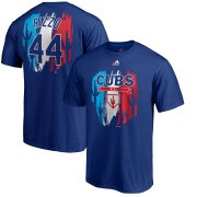 Wholesale Cheap Chicago Cubs #44 Anthony Rizzo Majestic 2019 Spring Training Name & Number T-Shirt Royal