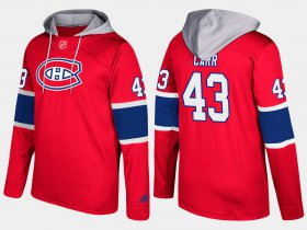 Wholesale Cheap Canadiens #43 Daniel Carr Red Name And Number Hoodie