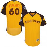 Wholesale Cheap Astros #60 Dallas Keuchel Gold Flexbase Authentic Collection 2016 All-Star American League Stitched MLB Jersey