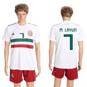 Wholesale Cheap Mexico #7 M.Layun Away Soccer Country Jersey