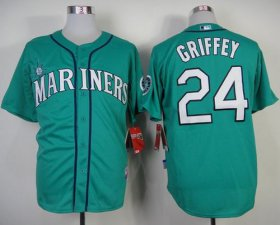 Wholesale Cheap Mariners #24 Ken Griffey Green Alternate Cool Base Stitched MLB Jersey