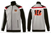 Wholesale Cheap NFL Cincinnati Bengals Team Logo Jacket Grey