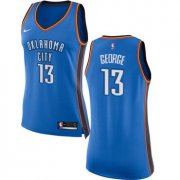 Wholesale Cheap Nike Oklahoma City Thunder #13 Paul George Blue Women's NBA Swingman Icon Edition Jersey