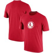 Wholesale Cheap St. Louis Cardinals Nike Batting Practice Logo Legend Performance T-Shirt Red