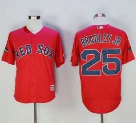 Wholesale Cheap Red Sox #25 Jackie Bradley Jr Red New Cool Base 2018 World Series Stitched MLB Jersey
