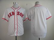 Wholesale Cheap Red Sox Blank White 1936 Turn Back The Clock Stitched MLB Jersey