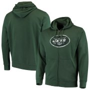 Wholesale Cheap New York Jets G-III Sports by Carl Banks Primary Logo Full-Zip Hoodie Green