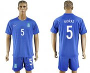 Wholesale Cheap Greece #5 Moras Away Soccer Country Jersey