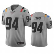 Wholesale Cheap Indianapolis Colts #94 Tyquan Lewis Gray Vapor Limited City Edition NFL Jersey