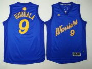 Wholesale Cheap Men's Golden State Warriors #9 Andre Iguodala Blue Stitched NBA Adidas Revolution 30 Swingman Jersey