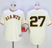 Wholesale Cheap Giants #27 Juan Marichal Cream Cool Base Stitched MLB Jersey
