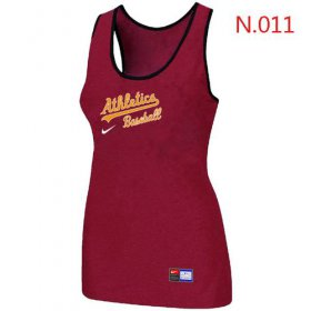 Wholesale Cheap Women\'s Nike Oakland Athletics Tri-Blend Racerback Stretch Tank Top Red