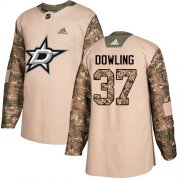 Cheap Adidas Stars #37 Justin Dowling Camo Authentic 2017 Veterans Day Stitched NHL Jersey