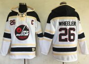 Wholesale Cheap Jets #26 Blake Wheeler White Sawyer Hooded Sweatshirt Stitched NHL Jersey