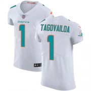 Wholesale Cheap Nike Dolphins #1 Tua Tagovailoa White Men's Stitched NFL New Elite Jersey