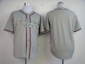 Wholesale Cheap Braves Blank Grey USMC Cool Base Stitched MLB Jersey