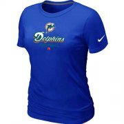 Wholesale Cheap Women's Nike Miami Dolphins Critical Victory NFL T-Shirt Blue