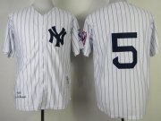 Wholesale Cheap Mitchell And Ness 1939 Yankees #5 Joe DiMaggio White Throwback Stitched MLB Jersey