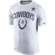 Wholesale Cheap Dallas Cowboys Nike Legend Icon Performance T-Shirt White