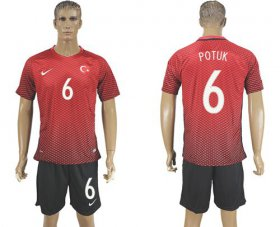 Wholesale Cheap Turkey #6 Potuk Home Soccer Country Jersey