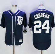 Wholesale Cheap Tigers #24 Miguel Cabrera Navy Blue New Cool Base Stitched MLB Jersey