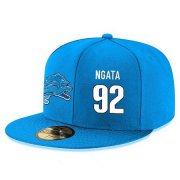 Wholesale Cheap Detroit Lions #92 Haloti Ngata Snapback Cap NFL Player Light Blue with White Number Stitched Hat