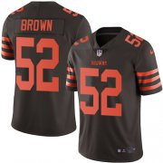 Wholesale Cheap Nike Browns #52 Preston Brown Brown Men's Stitched NFL Limited Rush Jersey