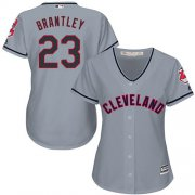 Wholesale Cheap Indians #23 Michael Brantley Grey Women's Road Stitched MLB Jersey