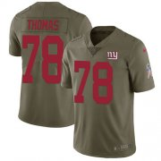 Wholesale Cheap Nike Giants #78 Andrew Thomas Olive Men's Stitched NFL Limited 2017 Salute To Service Jersey