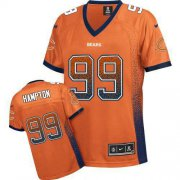 Wholesale Cheap Nike Bears #99 Dan Hampton Orange Alternate Women's Stitched NFL Elite Drift Fashion Jersey
