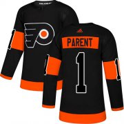 Wholesale Cheap Adidas Flyers #1 Bernie Parent Black Alternate Authentic Stitched NHL Jersey