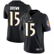 Wholesale Cheap Nike Ravens #15 Marquise Brown Black Alternate Men's Stitched NFL Vapor Untouchable Limited Jersey