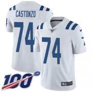 Wholesale Cheap Nike Colts #74 Anthony Castonzo White Youth Stitched NFL 100th Season Vapor Untouchable Limited Jersey