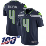 Wholesale Cheap Nike Seahawks #4 Michael Dickson Steel Blue Team Color Men's Stitched NFL 100th Season Vapor Limited Jersey