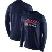Wholesale Cheap Cleveland Indians Nike Practice Long Sleeve T-Shirt Navy