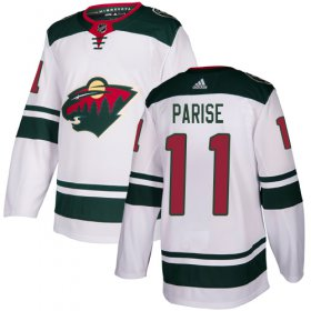Wholesale Cheap Adidas Wild #11 Zach Parise White Road Authentic Stitched Youth NHL Jersey