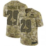 Wholesale Cheap Nike Seahawks #29 Earl Thomas III Camo Men's Stitched NFL Limited 2018 Salute To Service Jersey