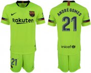 Wholesale Cheap Barcelona #21 Andre Gomes Away Soccer Club Jersey