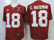 Wholesale Cheap Men's Alabama Crimson Tide #18 Cooper Bateman Red 2016 BCS College Football Nike Limited Jersey