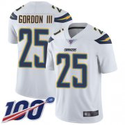 Wholesale Cheap Nike Chargers #25 Melvin Gordon III White Men's Stitched NFL 100th Season Vapor Limited Jersey