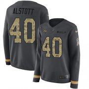 Wholesale Cheap Nike Buccaneers #40 Mike Alstott Anthracite Salute to Service Women's Stitched NFL Limited Therma Long Sleeve Jersey
