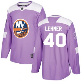 Wholesale Cheap Adidas Islanders #40 Robin Lehner Purple Authentic Fights Cancer Stitched NHL Jersey