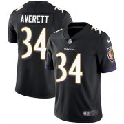 Wholesale Cheap Nike Ravens #34 Anthony Averett Black Alternate Men's Stitched NFL Vapor Untouchable Limited Jersey