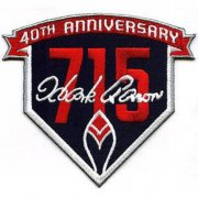 Wholesale Cheap Stitched 2014 Atlanta Braves Hank Aaron's 715th Home Run 40th Anniversary Jersey Patch