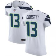 Wholesale Cheap Nike Seahawks #13 Phillip Dorsett White Men's Stitched NFL New Elite Jersey