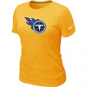 Wholesale Cheap Women's Nike Tennessee Titans Logo NFL T-Shirt Yellow