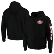 Wholesale Cheap San Francisco 49ers G-III Sports by Carl Banks Post Route Full-Zip Hoodie Black