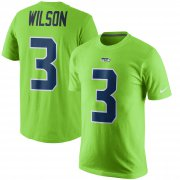 Wholesale Cheap Seattle Seahawks #3 Russell Wilson Nike Color Rush Player Pride Name & Number T-Shirt Green