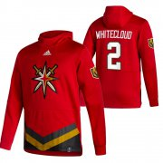 Wholesale Cheap Vegas Golden Knights #2 Zach Whitecloud Adidas Reverse Retro Pullover Hoodie Red
