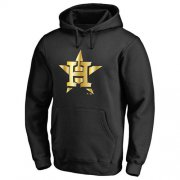 Wholesale Cheap Houston Astros Gold Collection Pullover Hoodie Black